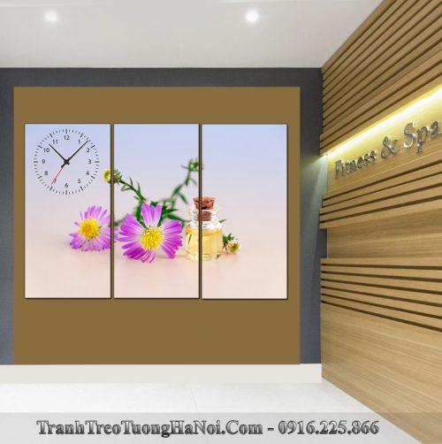 Tranh spa tinh dau hoa cuc tim 3 tam SP93-pix3197276