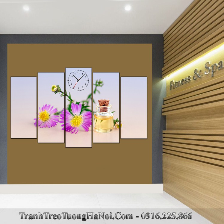 Tranh treo le tan spa 5 tam tinh dau hoa cuc SP93-pix3197276