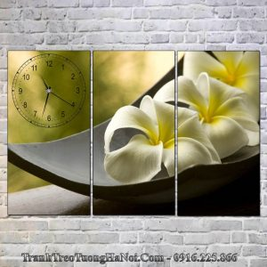 Tranh dong ho spa hoa su thien nhien 3 tam AmiA SP87