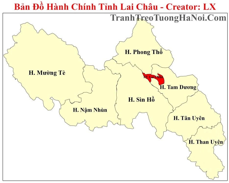 Ban do hanh chinh tinh lai chau