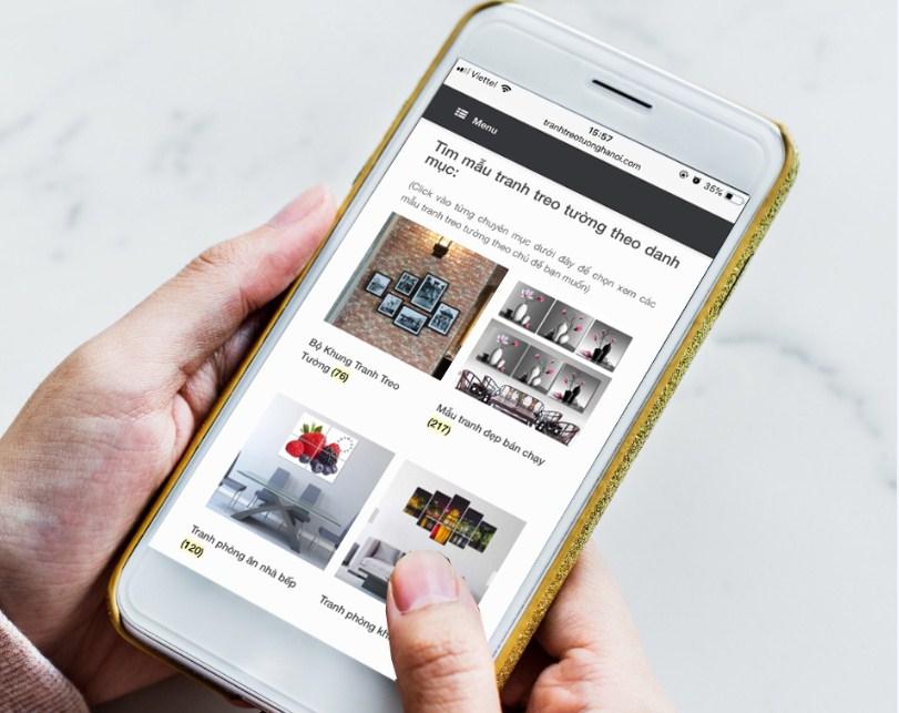 Chon mau mua tranh treo tuong tai Hung Yen tren website cua amia