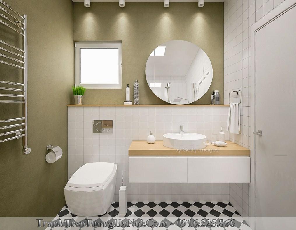 Đi tân gia tặng gương trang trí phòng tắm đơn giản thiết thực