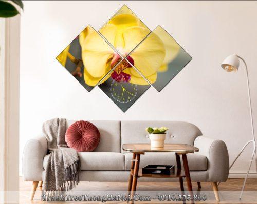 Dong ho tranh bong hoa phong lan vang phu quy amia LNPQ 115