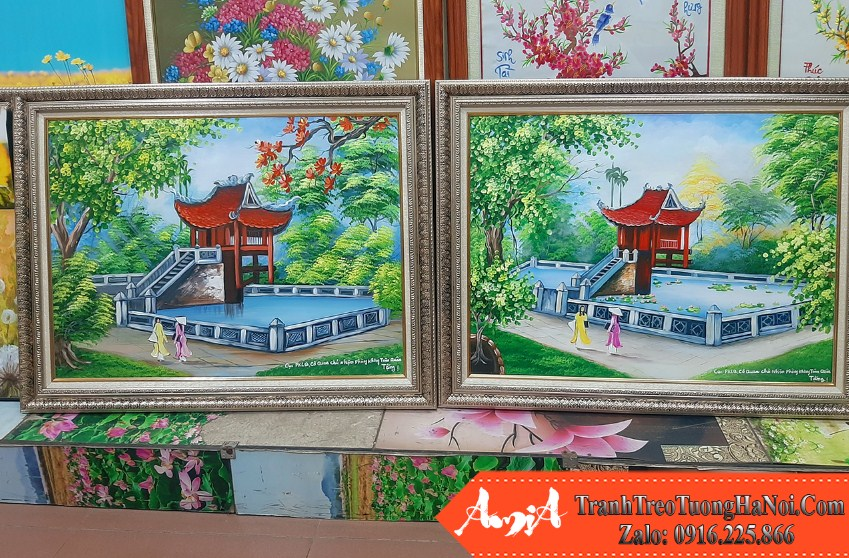 Nhung buc tranh ve chua mot cot son dau lam quà tang y nghia amia