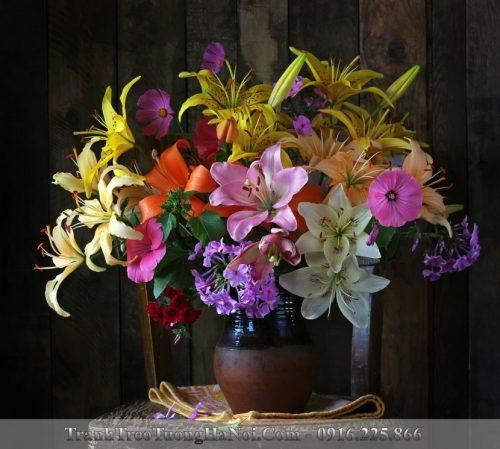 Tranh binh hoa tang tan gia amia bh118