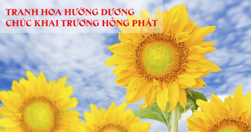 Tranh hoa huong duong chuc mung khai truong hong phat