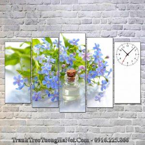 Tranh spa amia sp99 tinh dau hoa mau xanh