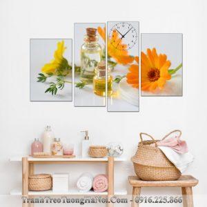 Tranh tinh dau hoa cuc treo spa amia sp105