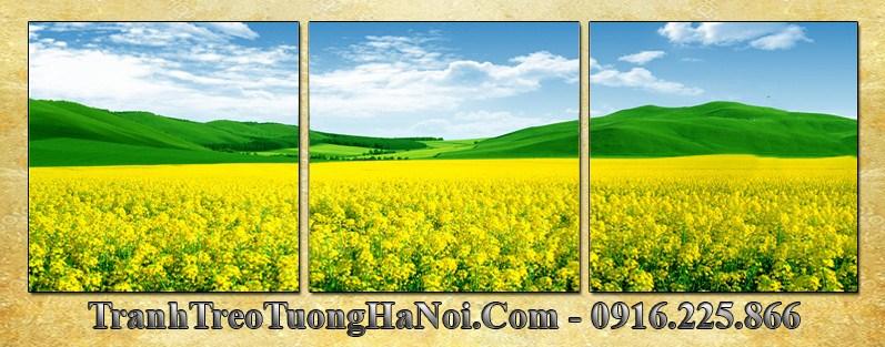 Tranh phong canh doi hoa cai vang 3 tam AmiA 3064