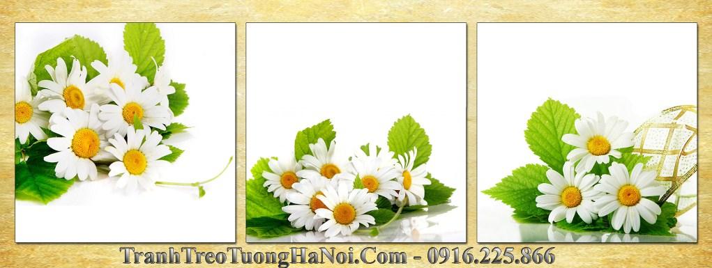 Bo tranh 3 tam hoa cuc hoa mi amia 657