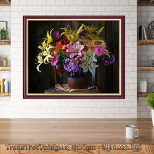 Tang tranh binh hoa ly gia re dip tan gia amia bh118
