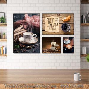 Tranh canvas cho quan cafe tan huong cuoc song amia 1704