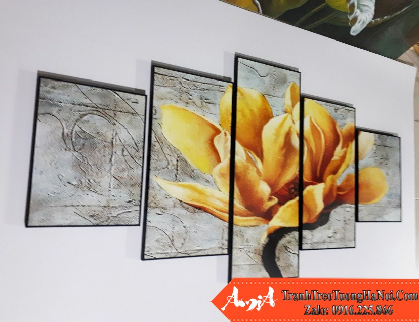 Tranh canvas hoa moc lan amia 1516