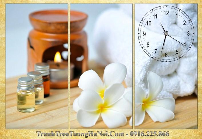 Tranh dong ho 3 tam treo spa hoa su hien dai amia sp169