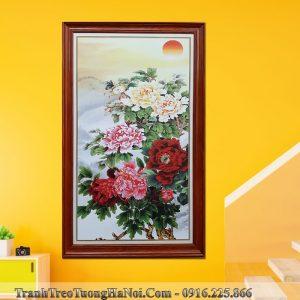 Tranh dung dep hoa mau don treo tuong hien dai AmiA MD111