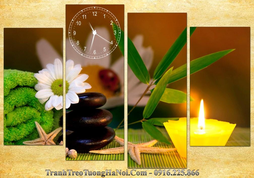 Tranh ghep 4 tam hoa cuc spa amia sp173