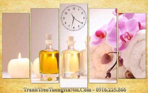 Tranh ghep spa 5 tam hoa lan nen amia sp176