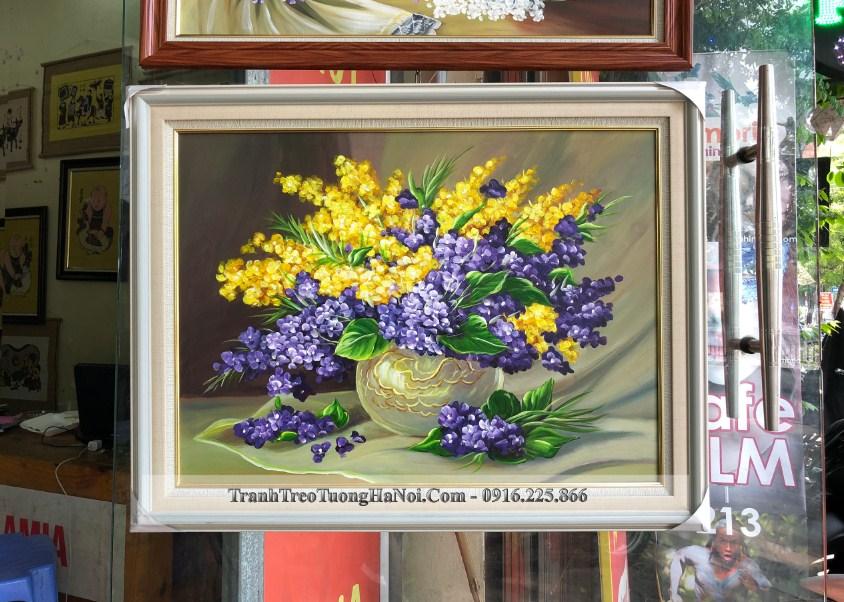 Tranh son dau binh hoa xanh vang dep mat sang trong amia 91903