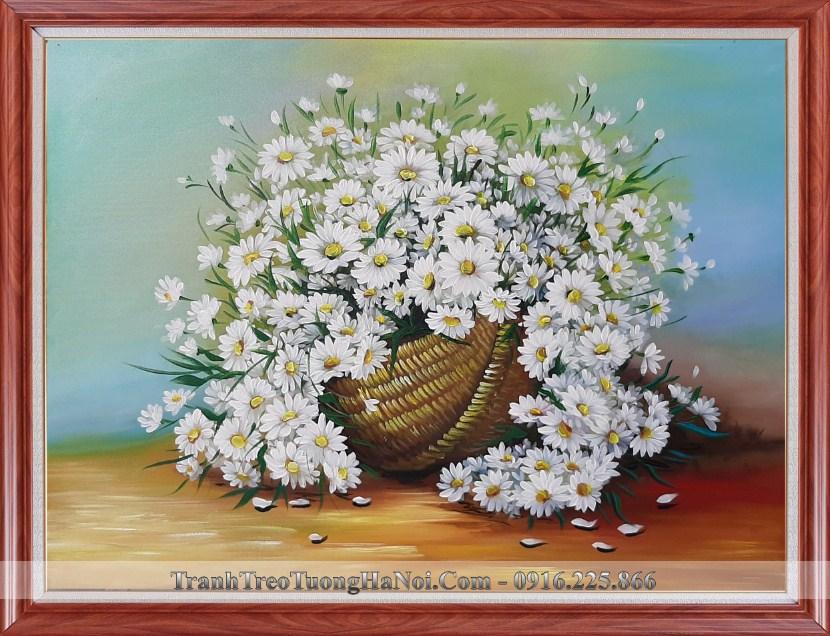 Tranh ve son dau cuc hoa mi trang amia tsd 91905