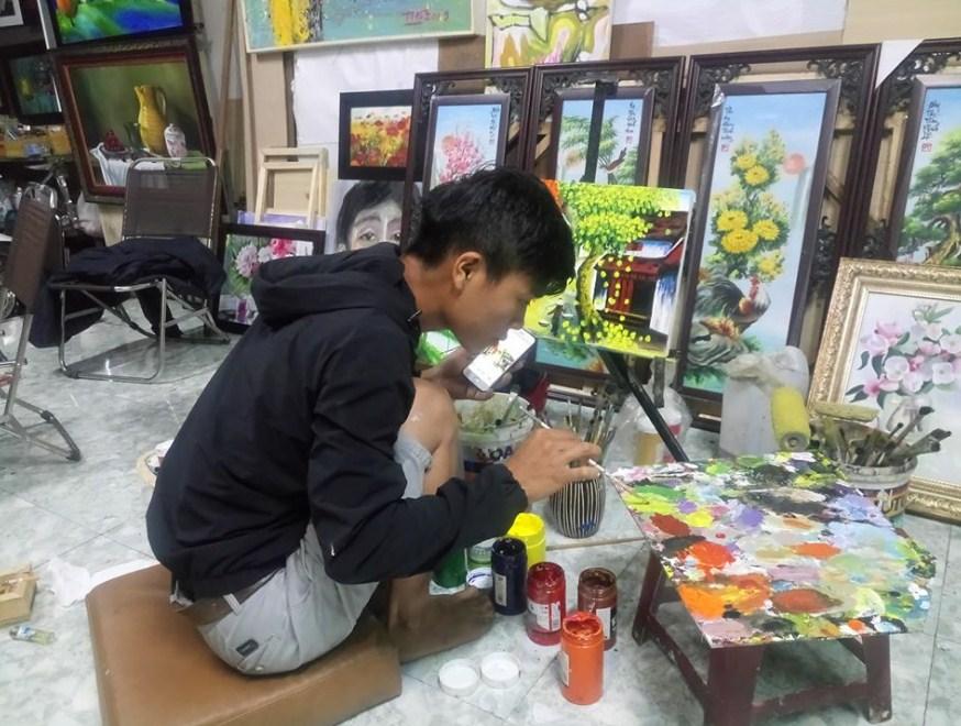 Phong tranh son dau o buon me thuot dak lak