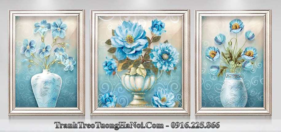 Trnah 3d binh hoa xanh quy toc amia 1394