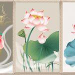 Tranh canvas hoa sen treo tuong dep nhat y nghia nhat