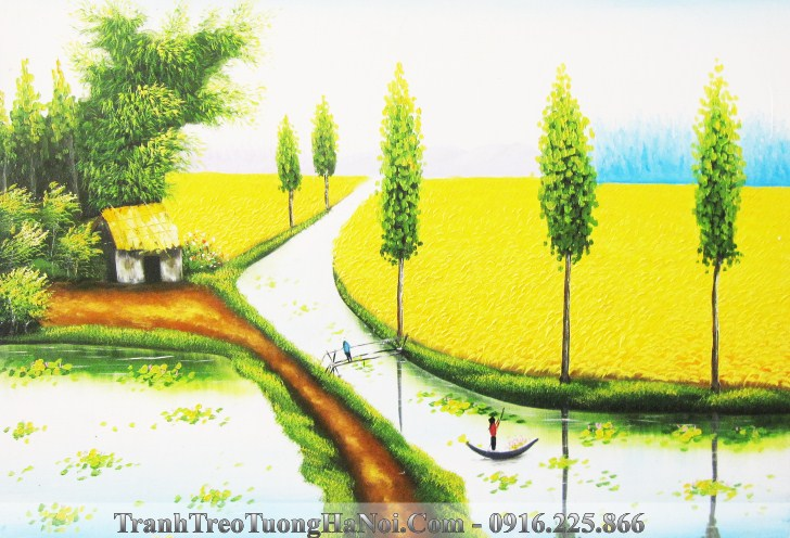 Tranh dong que lua chin vang dep nhat que em AmiA TSD 220