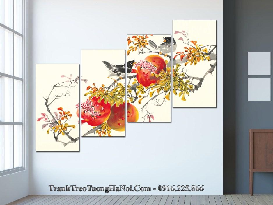 Tranh chim dau tren nhanh hoa sung tuc don xuan amia 364