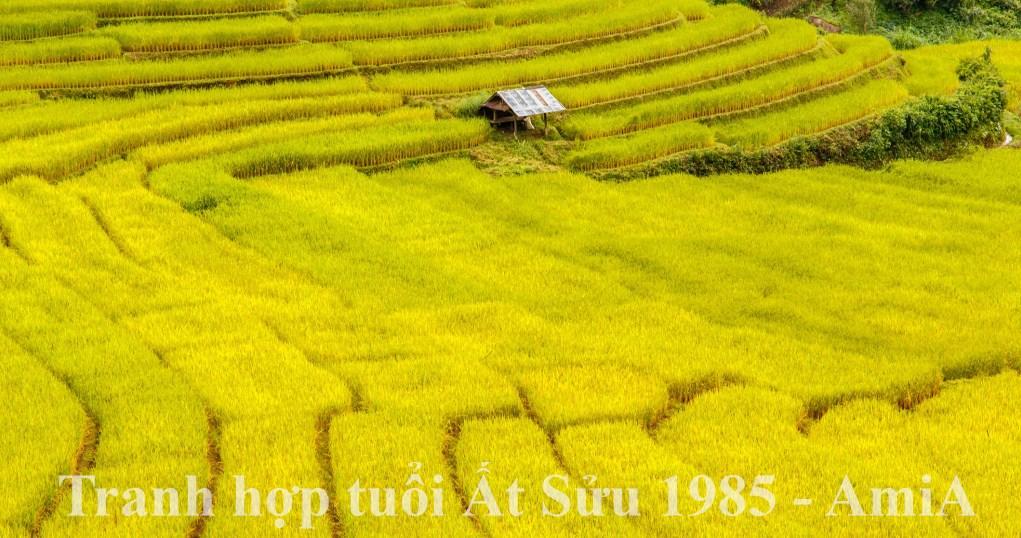 Tranh ho tuoi at suu 1985 menh kim cach chon mau dep treo tuong