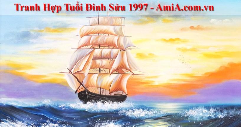 Tranh treo tuong hop tuoi Dinh Suu 1997