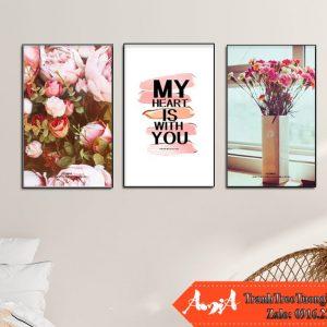 Mau tranh hoa hong canvas cuc dep amia