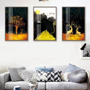 mẫu tranh rừng vàng nhiệt đới amia cv 242