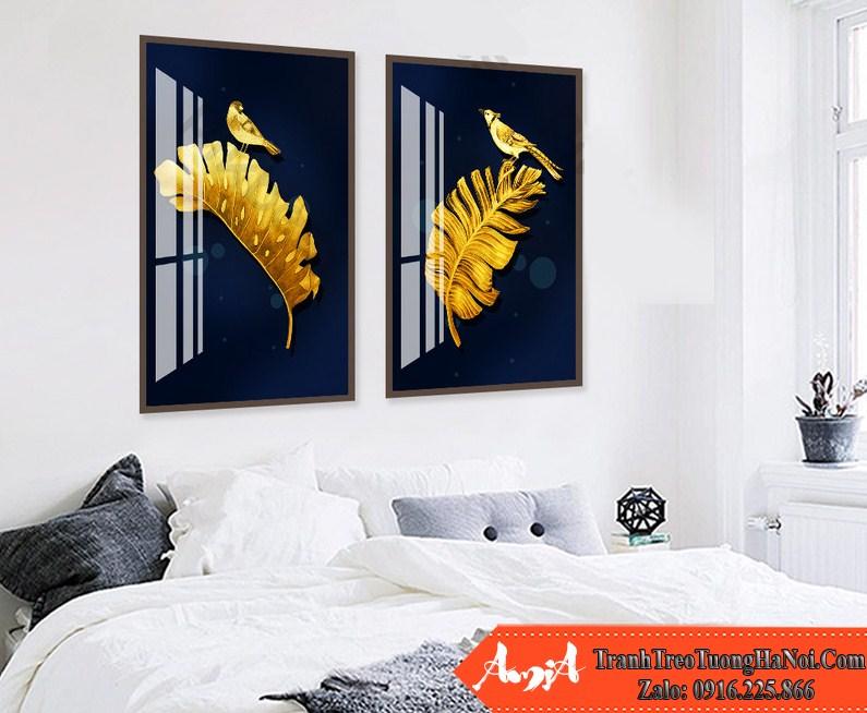 Tranh canvas la cay chim vang amai cv337