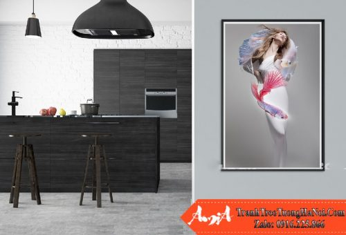 tranh cô gái đuôi cá nghệ thuật amia cv 358