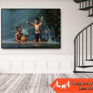 tranh treo tường hiện đại tuổi ấu thơ