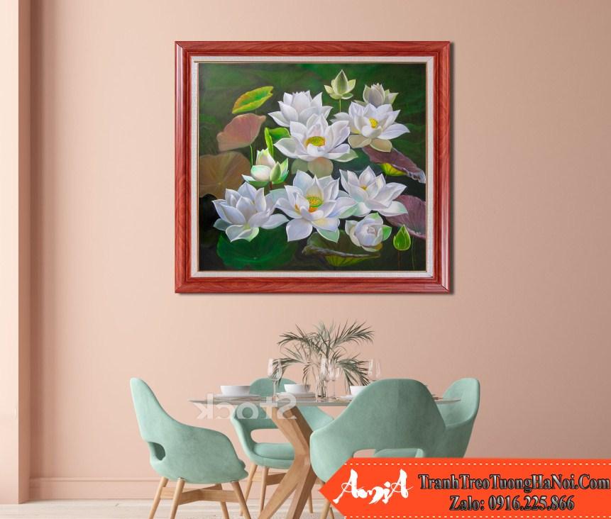 Tranh ve hoa sen amia tsd 359