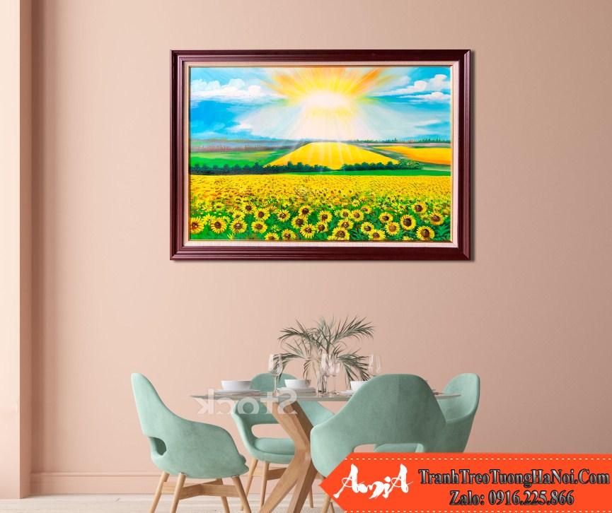 Ve tranh phong canh dep canh dong hoa huong duong amia tsd 538