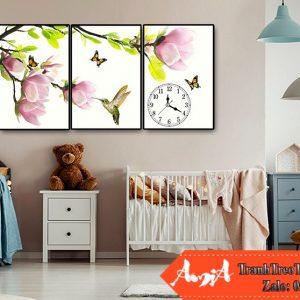 bo canvas tranh phong tre em hoa la
