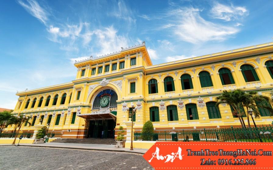 kiến trúc trung tâm bưu điện thành phố sài gòn