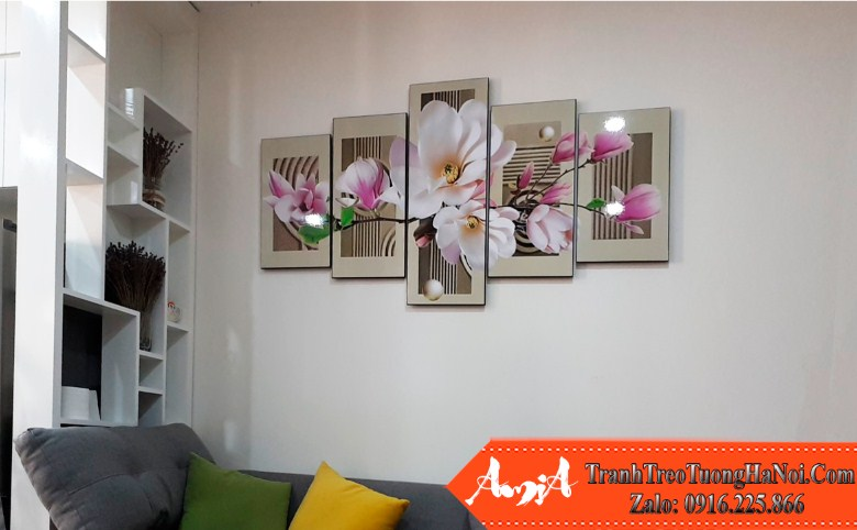 Mau tranh hoa moc lan amia 500 duoc yeu thich