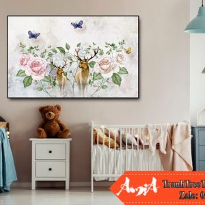 tranh in canvas hien dai cho phong ngu amia te246