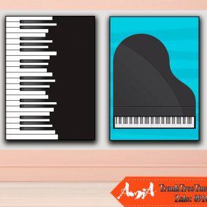 tranh phong ngu em be dan piano amia te133