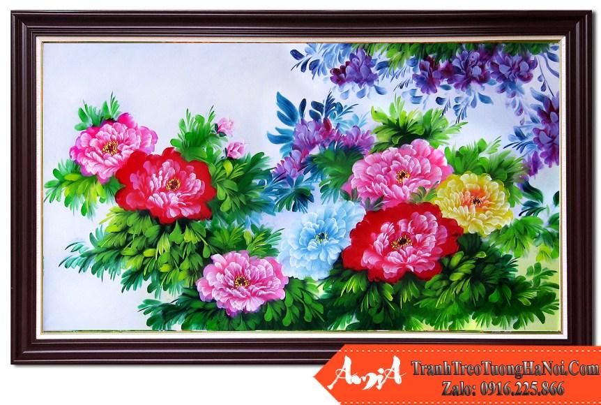 Tranh ve hoa mau don kho lon tsd 391