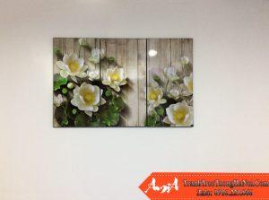 Tranh treo phong khach chung cu hoa sen amia 1330