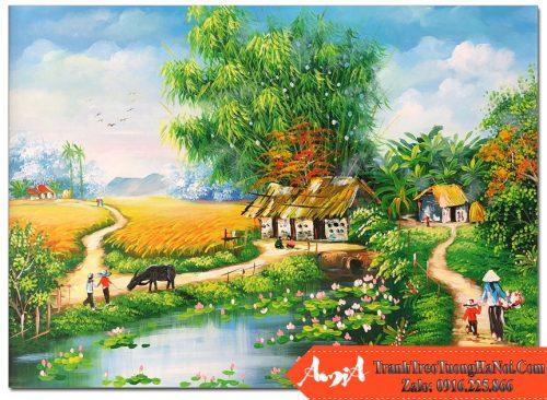 Tranh phong canh que huong lang que co y nghia gi amia tsd 545