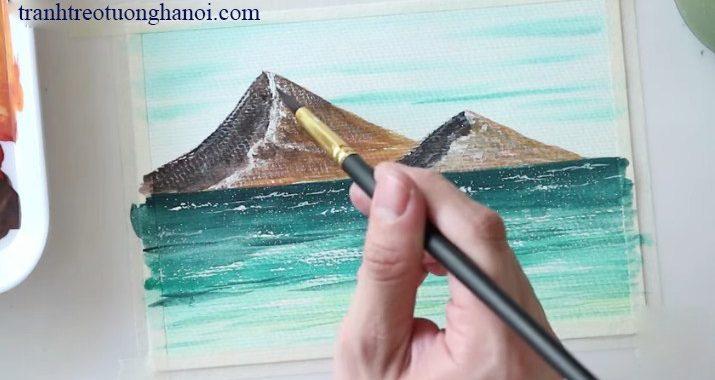 huong dan ve tranh phong canh bien bang mau nuoc