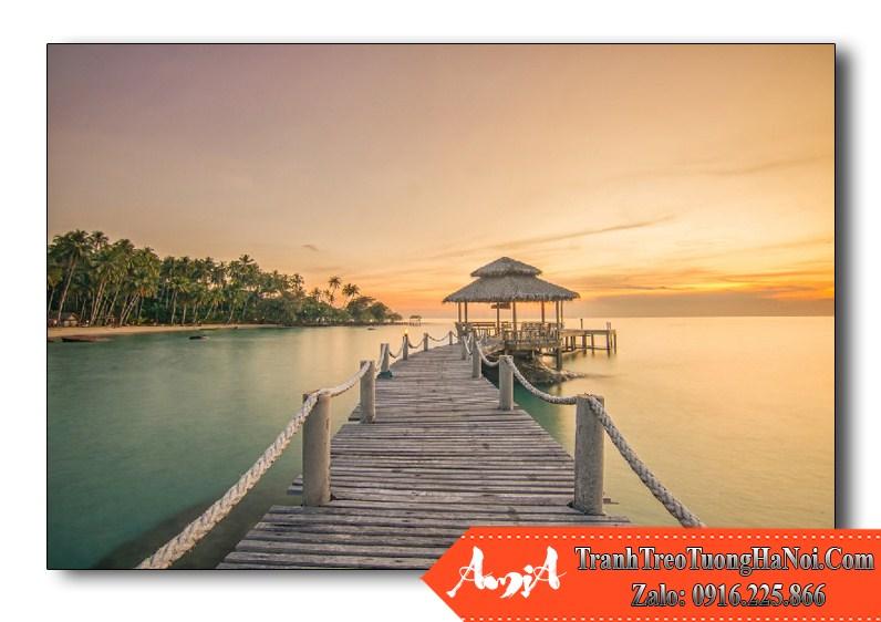 tranh cay cau dai tren bien phuket thailand