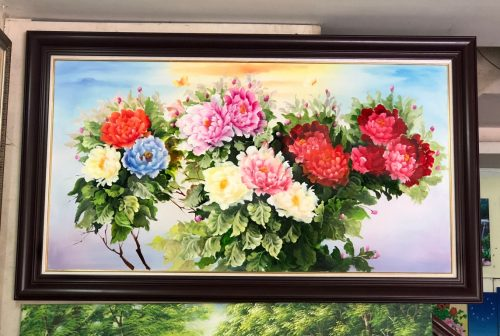 Tranh son dau hoa mau don amia tsd 549