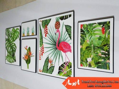 Tranh tropical hong hac hoa thien dieu chup tai xuong amia 1782