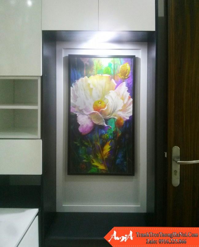 Tranh hoa nghe thuat treo o tuong phong ngu amia pn166